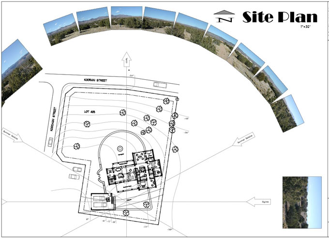 Example of schematic site plan