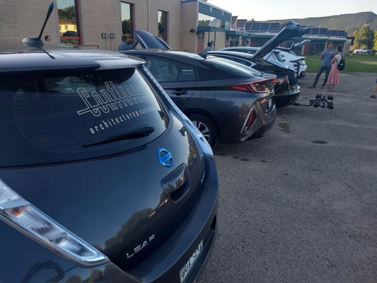 Confluence company cars at local EV event.