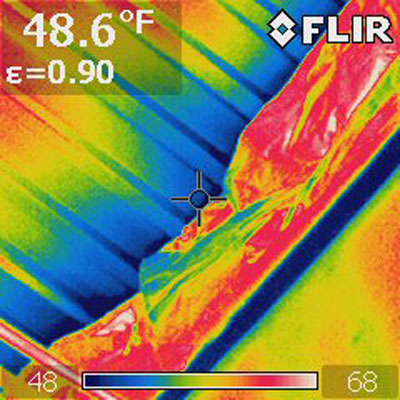 Infrared air leakage