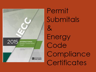 IECC compliance certificates; UA trade-off (COMcheck), simulated performance and ERI (Energy Rating Index), equipment sizing (manuals J, S & D) and commercial lighting calculations