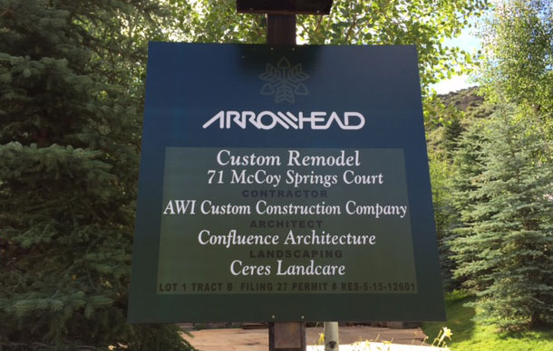 Arrowhead Village sign