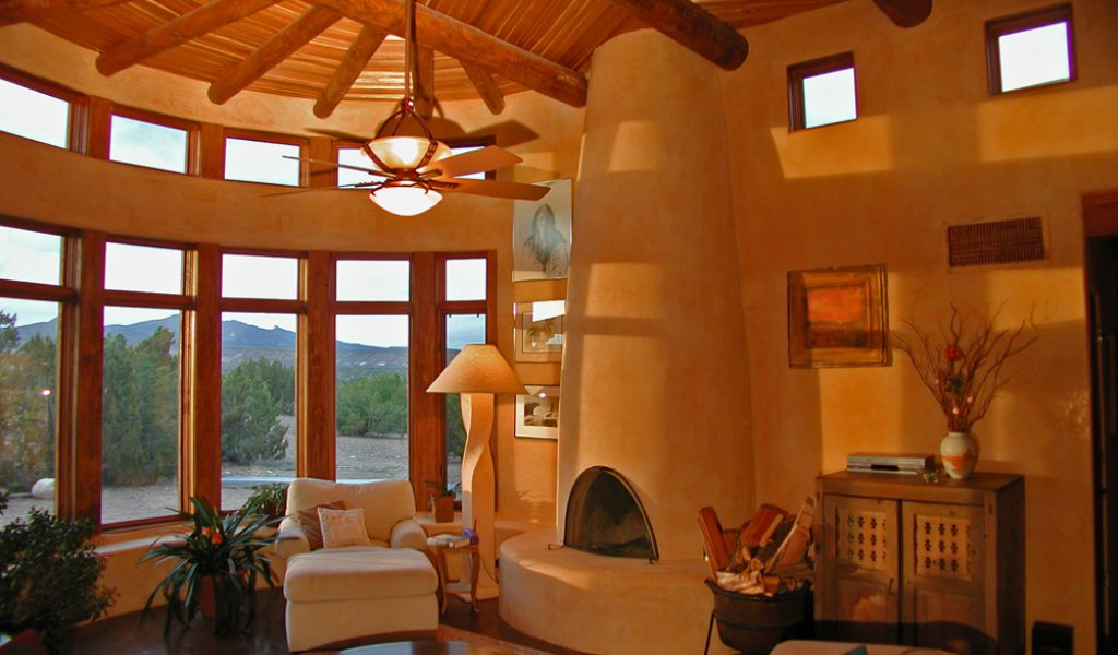 Strawbale Casita with wood burning kiva